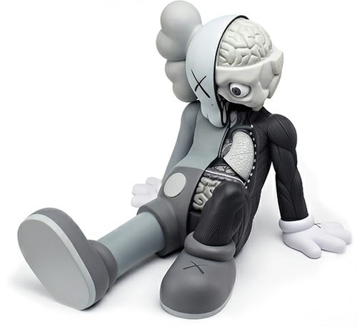 Resting Place - Mono figure by Kaws, produced by Medicom Toy. Front view.