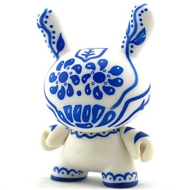 Talavera figure by Artemio, produced by Kidrobot. Front view.