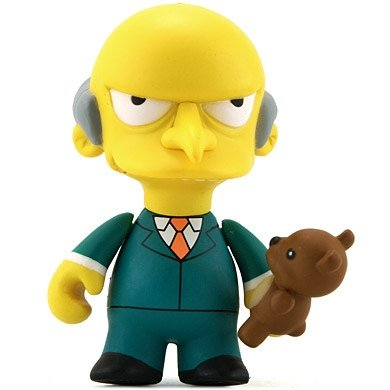 Mr. Burns figure by Matt Groening, produced by Kidrobot. Front view.