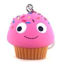 Pink Sprinkles Muffin figure by Heidi Kenney, produced by Kidrobot. Front view.