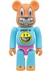 Grin & Bear It Be@rbrick 100% - ZacPac Exclusive