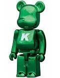 Basic Be@rbrick Series 24 - K figure, produced by Medicom Toy. Front view.