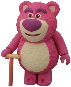Lots-O-Huggin Bear figure by Pixar, produced by Medicom Toy. Front view.