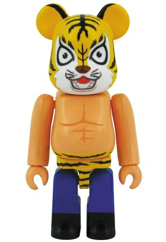 Tiger Mask - Hero Be@rbrick Series 27 figure, produced by Medicom Toy. Front view.