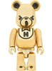 Hysteric Bear Be@rbrick 100% - Gold