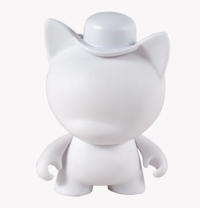 Mini Trikky figure, produced by Kidrobot. Front view.
