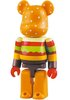 Gettry Hamburger Be@rbrick 100%