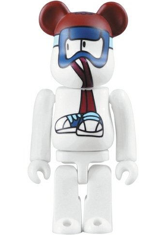 Medicom x Stussy x REAS - Wayback Throwback 2009 Be@rbrick 100% figure by Reas, produced by Medicom Toy. Front view.