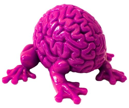Jumping Brain figure by Emilio Garcia, produced by Toy2R. Front view.