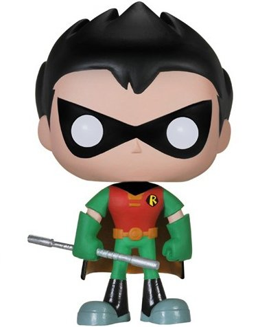 POP! Teen Titans GO! - Robin figure by Funko, produced by Funko. Front view.