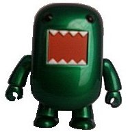 Green Metallic Domo figure by Dark Horse Comics, produced by Toy2R. Front view.