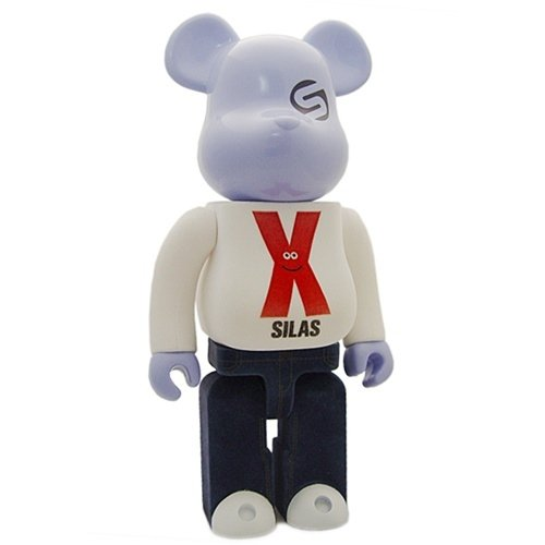 Be@rbrick Silas 400% - 10th Anniversary figure by James Jarvis, produced by Medicom Toy. Front view.