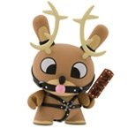 Naughty Reindeer - Chase figure by Chuckboy, produced by Kidrobot. Front view.