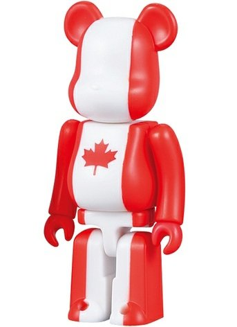 Canada - Flag Be@rbrick Series 10 figure, produced by Medicom Toy. Front view.