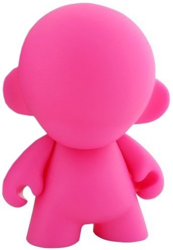 Mini Munny - Pink DIY figure, produced by Kidrobot. Front view.