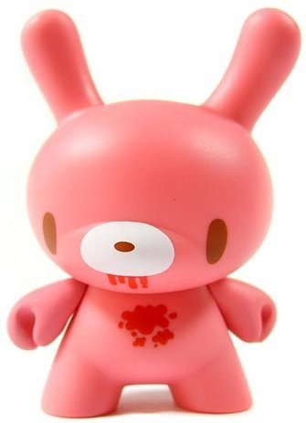 Gloomy Bear Dunny figure by Mori Chack, produced by Kidrobot. Front view.