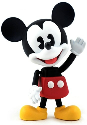 Mickey Mouse figure by Disney, produced by Hot Toys. Front view.