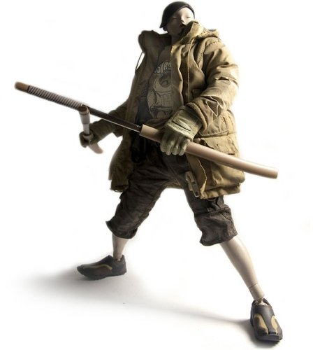 General Showa figure by Ashley Wood, produced by Threea. Front view.