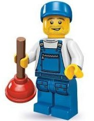 Plumber figure by Lego, produced by Lego. Front view.