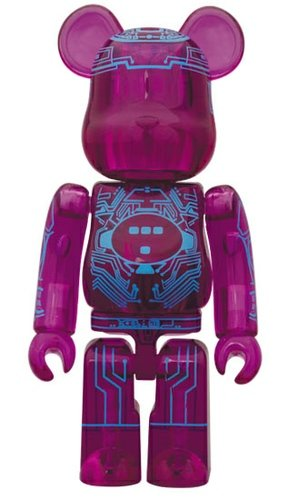 Tron Vintage Be@rbrick 100% figure, produced by Medicom Toy. Front view.