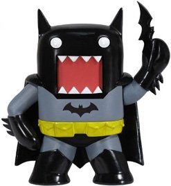 Domo Dark Knight figure by Dc Comics, produced by Funko. Front view.