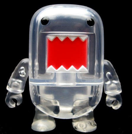 Clear Domo Qee (Build-a-Domo)  figure, produced by Toy2R. Front view.