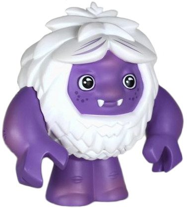 Chipster - Purple figure by Scott Tolleson, produced by Stolle Art. Front view.