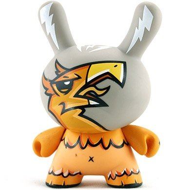 Griffin figure by Joe Ledbetter, produced by Kidrobot. Front view.