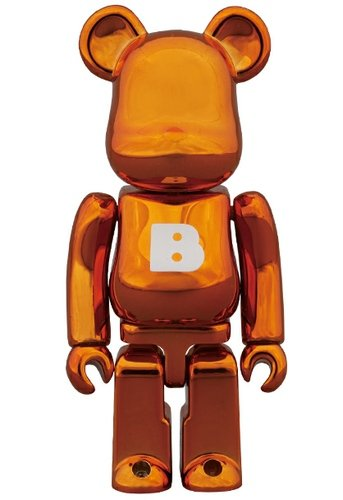 Basic Be@rbrick Series 26 - B figure, produced by Medicom Toy. Front view.