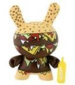 Burger Mustard figure by Twelve Car Pileup, produced by Kidrobot. Front view.