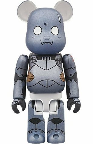 Alphonse Elric Be@rbrick 100% (Deformed Face) - Fullmetal Alchemist, WF 11 Summer figure, produced by Medicom Toy. Front view.