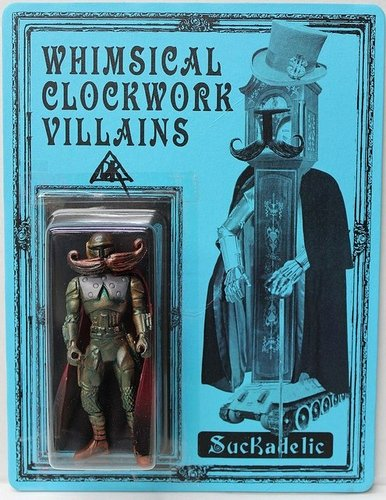 Whimsical Clockwork Villains - DCon 2012 figure by Doktor A, produced by Suckadelic. Front view.