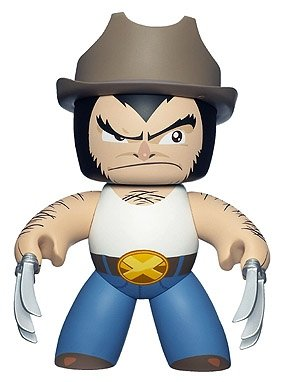 Logan figure, produced by Hasbro. Front view.