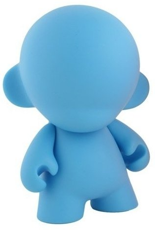 Mini Munny - Blue DIY  figure, produced by Kidrobot. Front view.