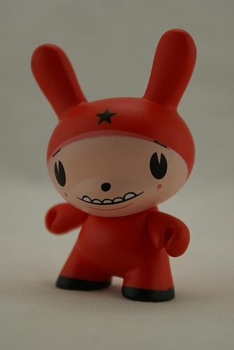 Star Head Red figure by Dalek, produced by Kidrobot. Front view.