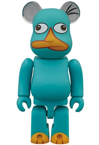 Perry the Platypus (Phineas & Ferb) - Animal Be@rbrick Series 26 figure by Disney, produced by Medicom Toy. Front view.