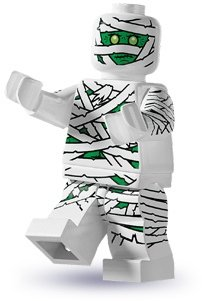 mummy figure by Lego, produced by Lego. Front view.