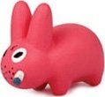 Pink Labbit figure by Frank Kozik, produced by Kidrobot. Front view.