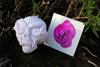 Skull Tattoos - Flaming Skull - Purple
