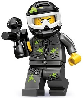 Paintball Player figure by Lego, produced by Lego. Front view.
