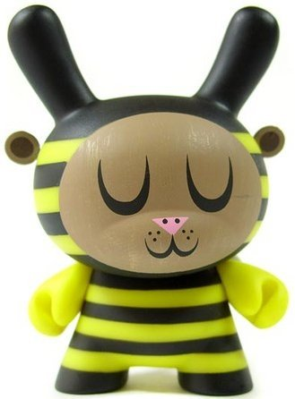 Bumble Bee  figure by Amanda Visell, produced by Kidrobot. Front view.