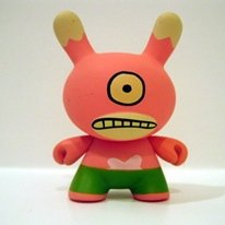 2 Face Dunny (Bunky) figure by David Horvath, produced by Kidrobot. Front view.