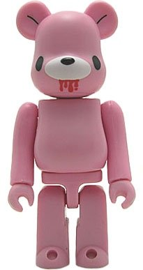 Gloomy Bear - Artist Be@rbrick Series 2 figure by Mori Chack, produced by Medicom Toy. Front view.