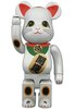 Maneki Neko Be@rbrick 400% - Beckoning Cat White