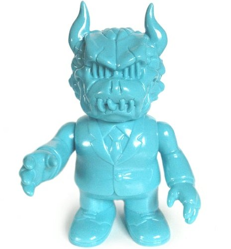 Gargamel x Napalm Death x Shirahama Toy - Gargadeath Turquoise Suit Unpainted figure by Gargamel X Napalm Death, produced by Gargamel. Front view.
