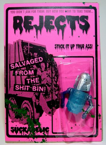 Pink Reject figure by Sucklord, produced by Suckadelic. Front view.