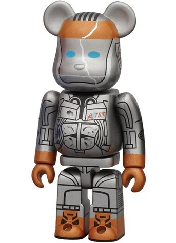 Real Steel Atom - SF Be@rbrick Series 23 figure, produced by Medicom Toy. Front view.