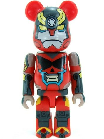 Gurren Lagann - SF Be@rbrick Series 17 figure by Gurren Lagann, produced by Medicom Toy. Front view.