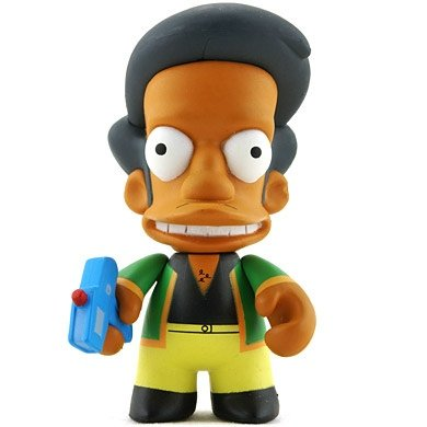 Apu figure by Matt Groening, produced by Kidrobot. Front view.