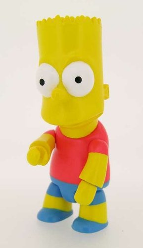 Bart Qee figure by Matt Groening, produced by Toy2R. Front view.